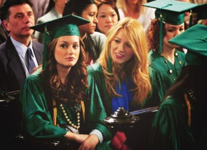 blair waldorf graduation
