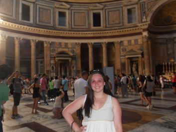 Sunburned at the Pantheon, 2012
